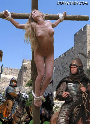 crucified woman nude